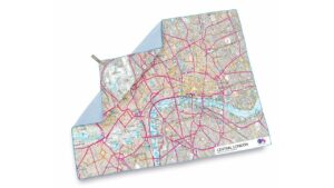 Podróżny ręcznik szybkoschnący SoftFibre OS Map Towel Giant Central London Lifeventure